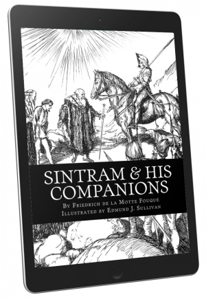 Front Cover - Sintram & His Companions (Illustrated)