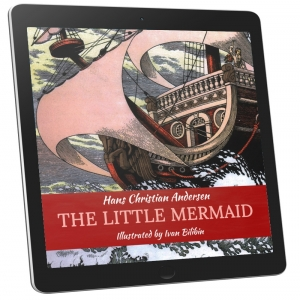 Book Cover - The Little Mermaid (Illustrated)